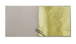 10 Blatt Blattgold 23,75 Karat Echt Gold Essbar 38 x 38 mm Vergolden & Basteln