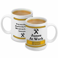 Personalised DIY Man At Work Mug Add Name & Messages - Fathers Day Gift
