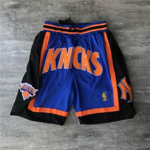 Men;s New York Knicks Shorts Royal Black