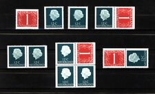 Nederland Stockkaart Combinaties uit Postzegelboekjes 8 Postfris