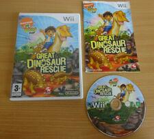 Go Diego Go Great Dinosaur Rescue-Nintendo Wii Juego-Completo con Manual