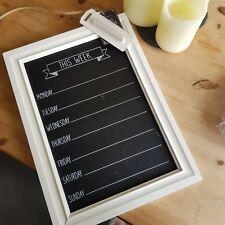 Chalkboard Week Blackboard Kitchen Chalk board Memo Board Shabby Chic Vintage