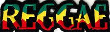 Reggae Iron On Patch Jamacia Rasta Reggae Jamaican Biker