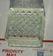 Reclaimed Architectural Glass Building Block - Beautiful Diamond Pattern! htf!~