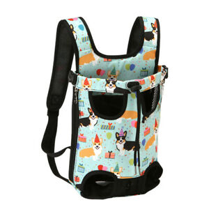 Outdoor Travel Dog Carrier Front Facing Backpack Cat Portable Pet Puppy Canvas