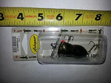 "NEW CLEAR LIP ARBOGAST CICADA BUG POPPER 2"" Black Gold Craw fishiing lure"