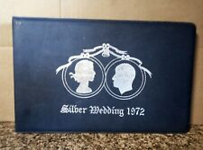 1972 ROYAL SILVER WEDDING STAMP ALBUM WITH COMMEMORATIVE MINT STAMPS