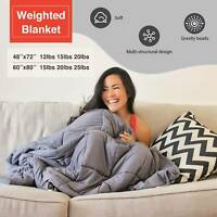 "60X80"" 48x72'' Weighted Blanket Full Queen Size Reduce Stress 12lbs 15 20 25 lbs"