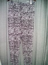 AUTOGRAPH grey print Harem soft Pants 22 gypsy Boho elastic back waist + pocket