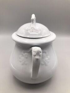 Antique English Ironstone H. Burgess, Burslem Canister Urn Jar with Lid
