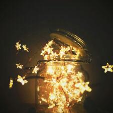 3M 30 LED À Pile Guirlande Lumineuse Fil Cuivre Décor Noël Maison Mariage Mode