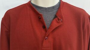 Weather Wear Mens Size Large Shirt Cotton Poly Long Sleeve Maroon Rust New