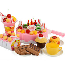 75Pcs/Set Plastic Kitchen Cutting Birthday Cakes Toy Gift For Children Girls