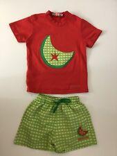 Agatha Ruiz de la Prada filles tenue, 4 ans, 102 cm, Rouge & Vert, short shirt