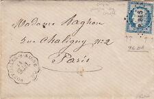 Lettre n°60 P BES Pontailler-S-Saone Convoyeur Cote D'OR Cover Brief