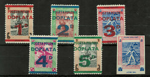 Poland Field Post in Great Britain Postage Dues + Imperforated #4172