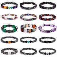 Weight Loss Hematite Beads Stretch Bracelet Anti-Fatigue Magnetic Bangle Jewelry
