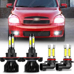 For Chevrolet HHR 2006-2011 LED Headlight Hi/Lo Beam+Fog Light 4 Bulbs Combo kit
