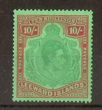 (J) Leewards 1947 GVI 10/- Keyplate SG113c Mint Cat£100