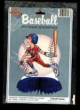 """Vintage Baseball Party Table Decorations 10"""" Centerpiece Beistle 1985 Brand New"""