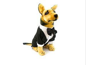My Ring Bearer Doggy Wedding Tuxedo for Dog Groom Attire Suit Costume Tie Party