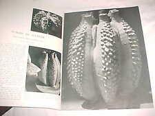 1963 CARLTON BALL MODERN STUDIO ART POTTERY CLAUDE CONOVER TAKAEZU JERRY ROTHMAN