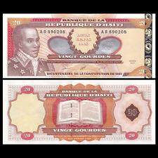 Haiti 20 Gourdes, 2001, P-271A, AU-UNC>200th Anniversary