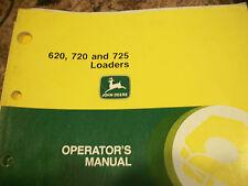 John Deere Operator'S Manual 620, 720 And 725 Loaders