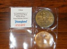 Mickey Mouse 60 Years Disneyland Commemorative Coin 1928 - 1988 Steamboat Willie