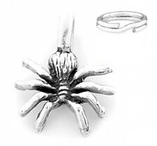 "STERLING SILVER ""SPIDER"" CHARM WITH ONE SPLIT RING"