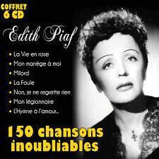 Coffret 6 CD Edith Piaf : 150 Chansons inoubliables