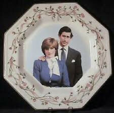 Prince Charles and Princess Diana Wedding Plate July 29, 1981 Octagon Flowers