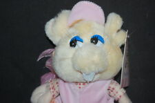 "Girl Mouse Pink Shoes Hat Bows Clothes Blue Eyes Stuffed Plush 7"" Lovey Toy"