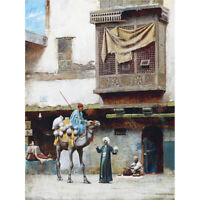 Pearce Pottery Seller Old City Cairo Egypt Painting Canvas Art Print Poster