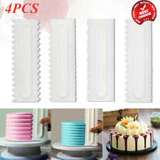 4PCS Cake Decorating Comb Edge Smoother Scraper Pastry Baking Tool for Kitchen