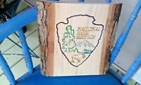 National Park Service carved wood sign scaled replica Beautiful live edge Oak