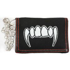 Vampire Tooth Triple Fold Canvas Wallet