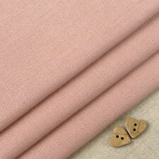 Robert Kaufman Essex Dusty Rose Linen Blend Fabric / vintage pink rustic French
