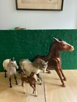 Lot #4  Breyer Body/Custom Horses Traditional Classic and Balking Mule
