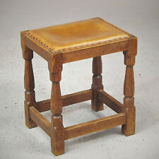 Yorkshire Oak Stool - Arts & Crafts - Mustard (delivery available)