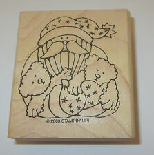Santa Claus Rubber Stamp New Holding Bears Stampin' Up! Jolly Old Elf Christmas