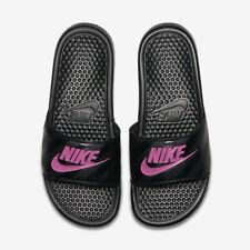 nwt Nike Benassi JDI Slides slide Women's Size 8 Sandal 343881-061 Black Pink