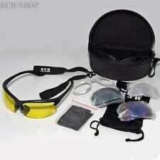 MFH Armee Sportbrille Schießbrille Strike mit viel Zubehör inkl. schwarzer Box