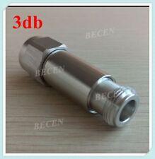 5W N RF Attenuator  male to female Coaxial DC-3GHz 50ohm - 3dB