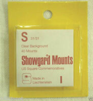 Showgard Clear Stamp Mounts S 31/31 40 Pieces for Square Commemorative NOS (m9b)