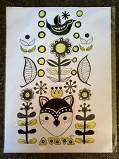 Original large Ink illustration 'Forest Friends' by Michelle Ranson