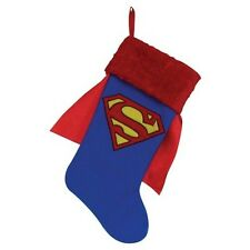 NEW Superman Christmas Stocking Blue w/ Red Cape Holiday