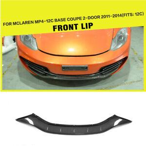 Fit For McLaren MP4-12C 2011-2014 Front Bumper Lip Spoiler Carbon Fiber Refit