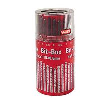 SET 19 PUNTE PER FERRO METALLO in HSS da 1 mm a 10 mm TRAPANO AVVITATORE IN BOX