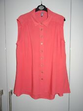 E-VIE - CORAL SLEEVELESS TOP SIZE 8